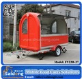 Mobile food Vending Cart Trailer Towable Mobile Coffee Truck For Sale