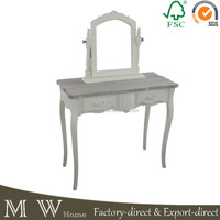 french wooden dressing table with mirror, dressing table