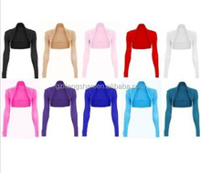 China OEM Factory Wholesale Cheap Womens Long Sleeve Bolero Shrug Sweater Jacket Top