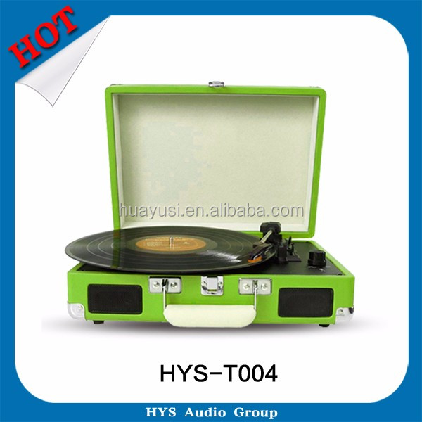 USB Encoders Vinyl Turntable DJ Records Player In Portable Suitcase