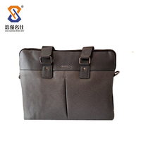Hot selling genuine leather lawyer briefcase for men