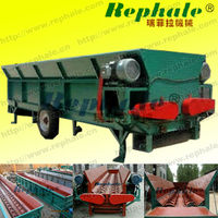 Large Capacity Double Roller Tree Bark Remover