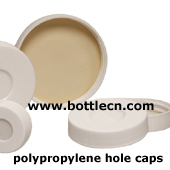 polypropylene hole caps with bonded PTFE-silicone septa
