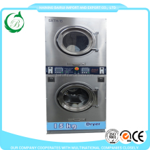Lpg, gas, electric, steam heating commercial double stack washer and dryer