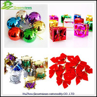 The Decorative Ball/bowknot And Other Christmas Decorations On The Christmas Tree Gift christmas hanging decoration