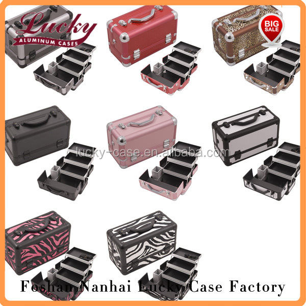 Professional Makeup Beauty Case Cosmetic Storage 3 Tier Organizer Lockable Case