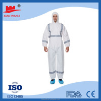 cheap type 5 6 polypropylene disposable waterproof coverall