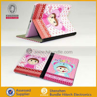 Smart Stand PU Leather Cute Magnetic Case For iPad mini, leather case for ipad mini