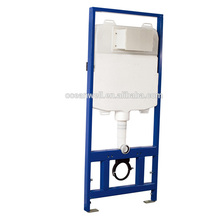 Wall hung toilet water tank for front operation