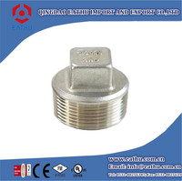 Stainless Steel Threaded Pipe Fittings Square Plug