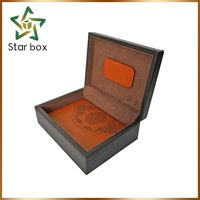 Top quality wooden gift box with metal lock pine wood blanket box storage box