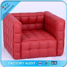 2016 New Design PU Leather Rose Red Sofa