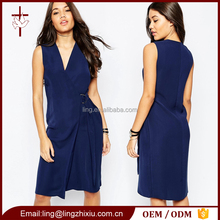 Fashion Elegant Office lady formal dress pictures office Midi dress for ladies