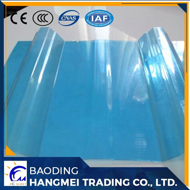 Colorful excellent light building materials clear pc corrugated plastic sheet