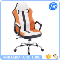 China supplier high back PU leather office chair racing seat