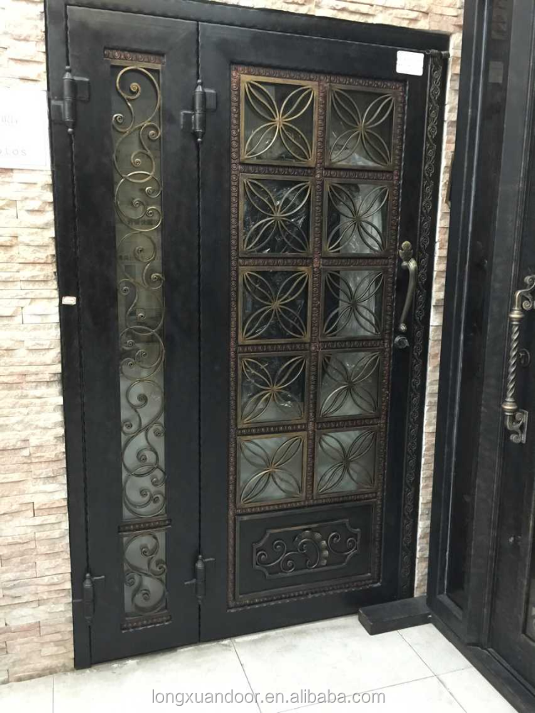 Lowes wrought iron front doors entrance door buy wrought iron front doors entrance door cheap for Lowes exterior doors with sidelites