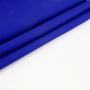 Hot sale blue warm plain 100% cotton terry knitted fabric for hoodie