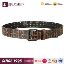 HEC Custom Excellent Design Student Style Leisure Brown Pu Leather Belt Mens