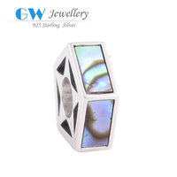 China Manufacturer Offer 925 Sterling Silver Jewelry Wholesale Color Leather Charm