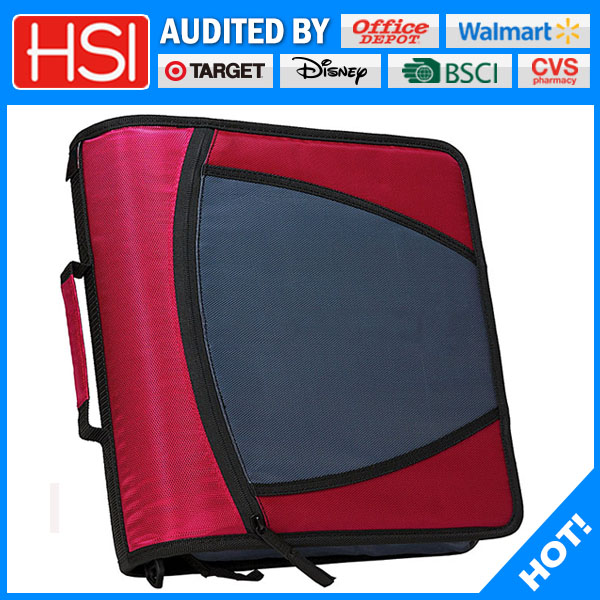 wholesale 3 ring zipper binder fit tablet computer