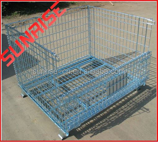foldable galvanized coin cage