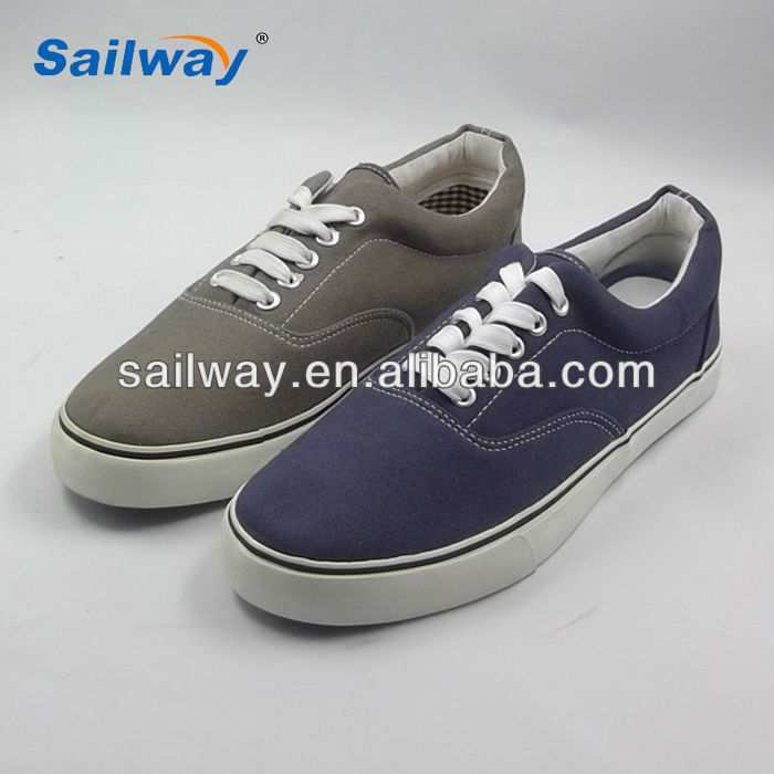 2014 man canvas sneakers with your shoes logo customized