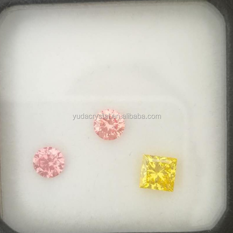 Fancy pink Color Synthetic Diamond