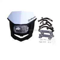 Universal White Supermoto Supercross Dirt Bike Headlight Fairing Kit plastic product