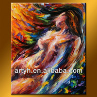 Modern abstract nude body on canvas art