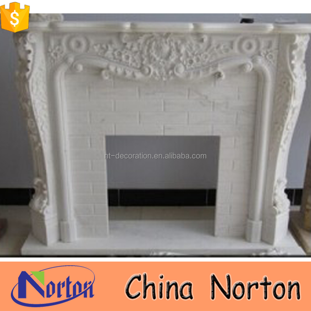 indoor marble carving gas fireplace decoration NTMF-F512X