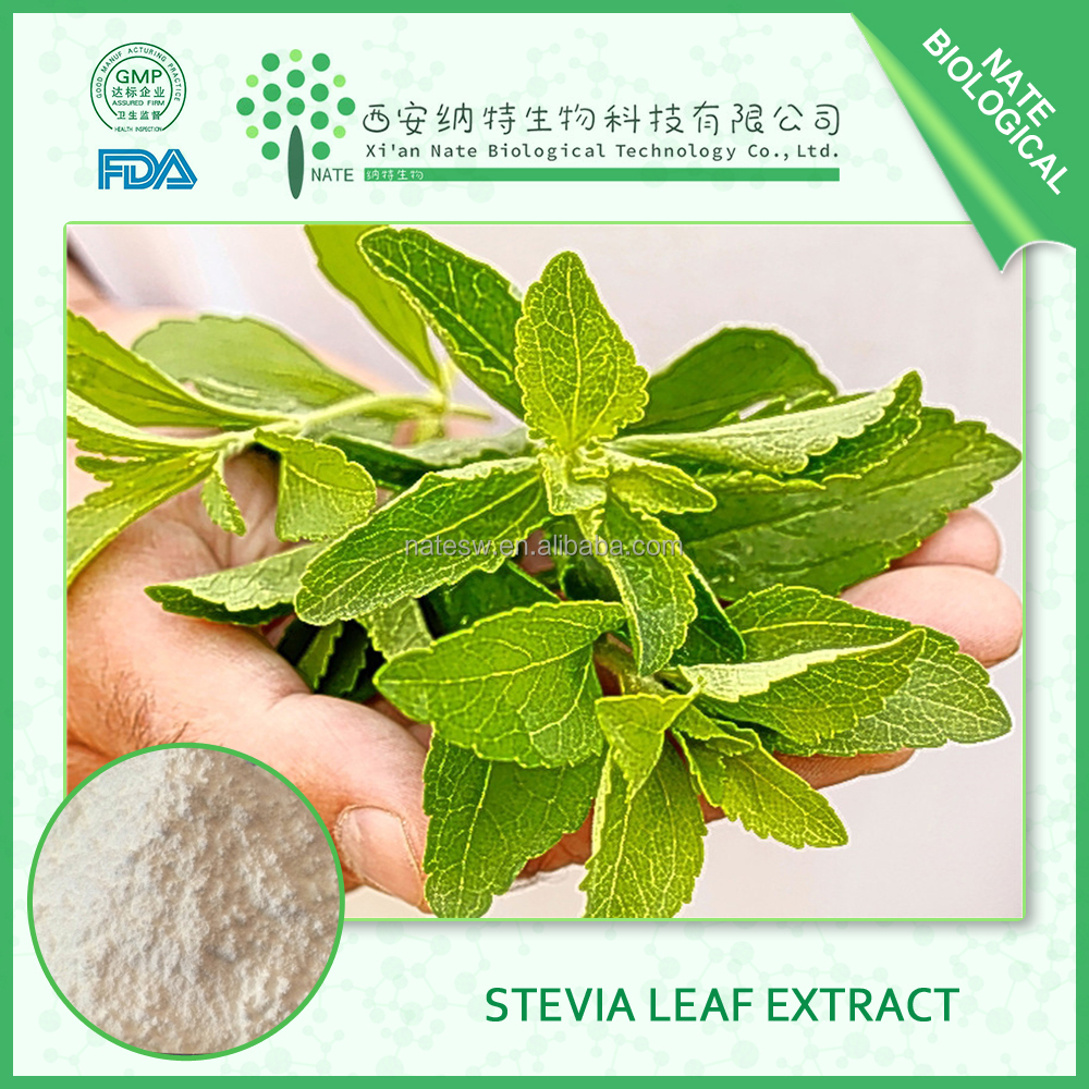 factory made China of stevia extract powder and stevia leaf extract 95% with stevia leaf price