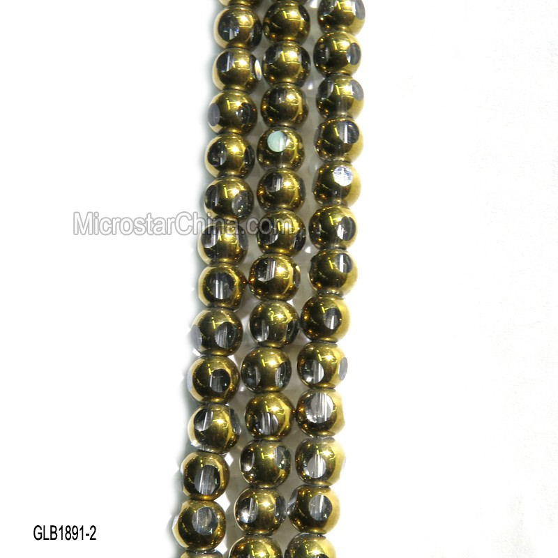 6*6mm hot sale cheap faceted bead treasures glass beads