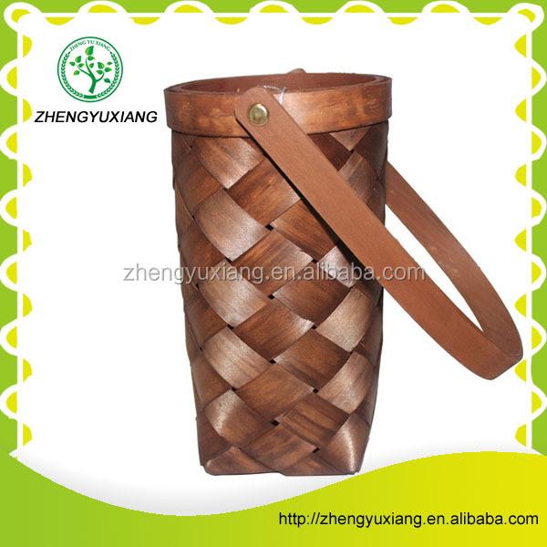Natural wooden high quality brown wine baskets