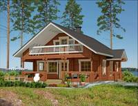 Two Story Prefab Living Wooden House/Villa