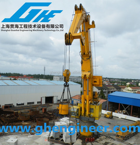 100t Folding knuckle telescopic boom Hydraulic Marine deck crane