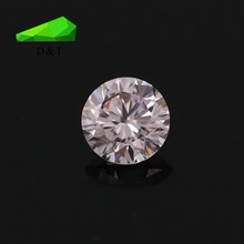 Hot sale Round shape 4mm pink cubic zirconia from wuzhou city