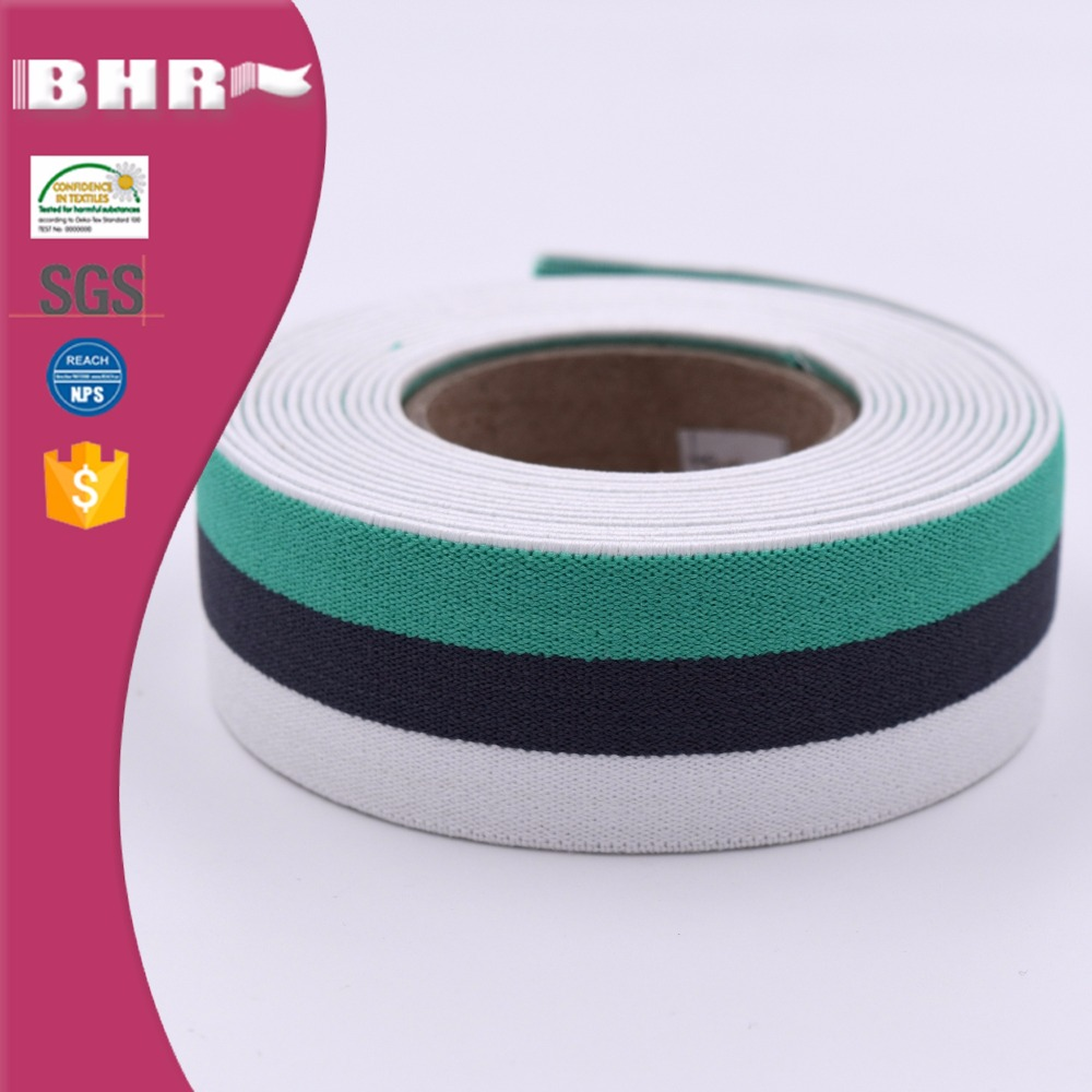 High elasticity woven striped elastic band