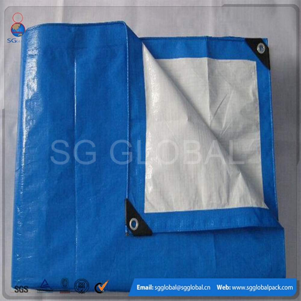 Laminated blue waterproof heavy duty pe tarp for truck