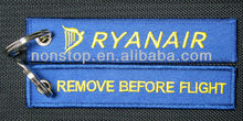 Remove Before Flight Embroidery Keyring/Key Ring/Key chain/keychain,Embroidered Key tag