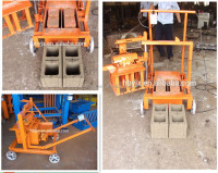 QMJ2-45 light weight brick making machine small brick making machine manual brick making machine