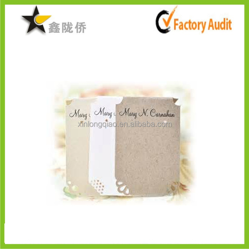 China suppliers bargin price vintage craft paper unique custom printed jewelry hang tags