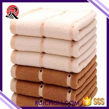 100% organic cotton plain dyed rayons face towel