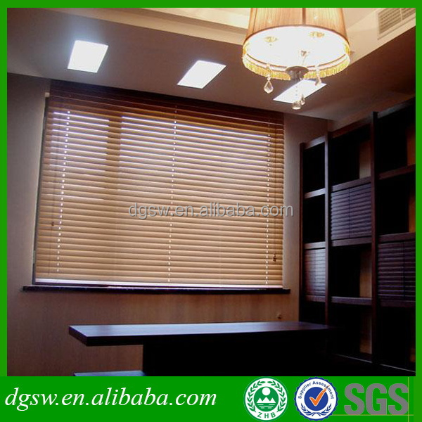Professional supplier custom made honeycomb PVC eaux wood venetian window blinds for home decor