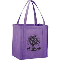 Custom non woven shopping bags with handles