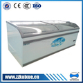 curved glass cover quick freezing horizontal freezer