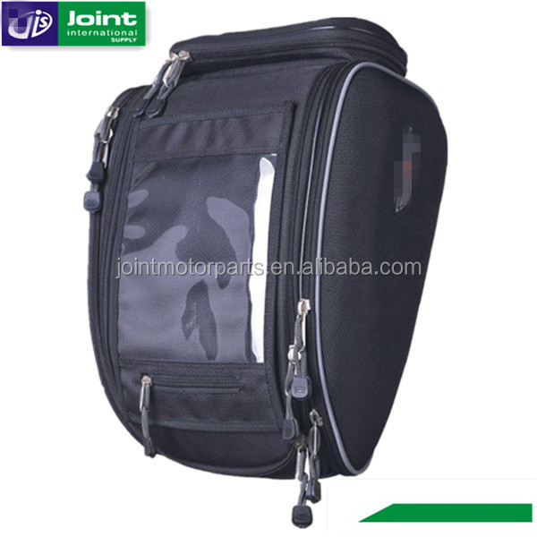 High Quality Black Motorcycle Tail Bag Tank Bag for Motorcycle with Rain Cover
