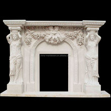 Decoration marble carving round fireplace