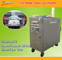CE Mobile steam high pressure plunger pump cleaner machine price/steam high pressure plunger pump cleaner with Two guns