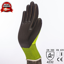 13G nylon liner Nitrile gloves coated work gloves
