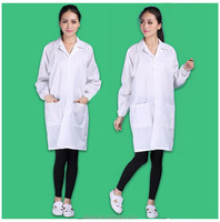 Dust free unisex ESD White Coat for hospital